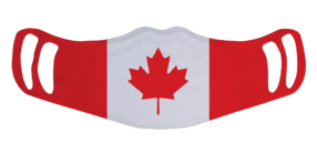 MF1 - Polyester Face Mask - Canada Flag